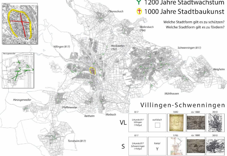 Lageplan (L1) Entwicklung 1200 Jahre 10 Orte